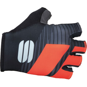 Sportful Bodyfit Team Gloves black/coral fluo